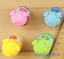 Rubber Mini Pig Eraser Collectable School Tool Kid Gift x 1pcs QE43
