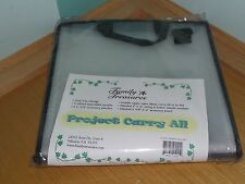 NEW FAMILY TREASURES SCRAPBOOK PROJECT CARRY ALL ZIPPER OPEN ACID FREE STORAGE