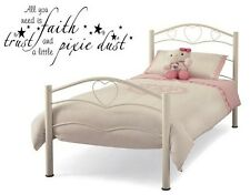 """FAITH TRUST AND PIXIE DUST Words Vinyl Wall Decal Lettering Sticky Quote 24"""""""