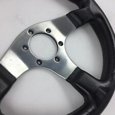 Momo Corse D32, 320mm black leather steering wheel.Genuine. Rally,track,race etc