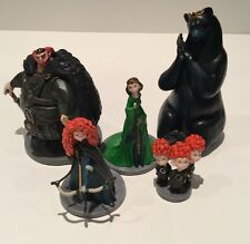 Disney Pixar Brave X5 Hard Plastic Toy Figures Bundle Cake Toppers
