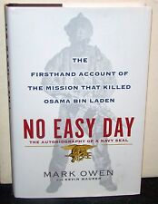 No Easy Day by Mark Owen w/Kevin Maurer, 1st ed HCDJ, Dutton 2012