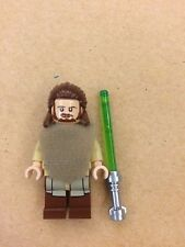 LEGO 75096 Star Wars QUI GON JINN Minifigure NEW with Lightsaber & Poncho