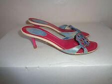 RENE CAOVILLA MULTI COLOR EMBELLISHED CASUAL SANDAL Sz 6.5M MADE IN ITALY