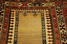 Pre 1900s ANTIQUE ULTRA RARE CAMEL WOOL/HAIR PERSIAN BAKHSHAYESH RUG 3.4x14.3