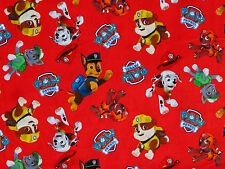 PAW PATROL 100% COTTON FABRIC  CHASE RUBBLE ZUMA ROCKEY  DAVID TEXTILES  YARDAGE