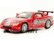 1993 MAZDA RX-7 RED THE FAST AND THE FURIOUS 2001 1:43 GREENLIGHT 86204