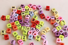 Wholesale!100-5000pc Mixed Alphabet/Letter Acrylic Cube Beads 6x6mm Choose color