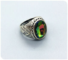 Vintage Woman 316L Stainless Steel Vogue Design Mini Stone Ring Size 11  NEW