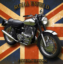 ROYAL ENFIELD INTERCEPTOR METAL DRINKS COASTER,ENAMELLED FINISH,