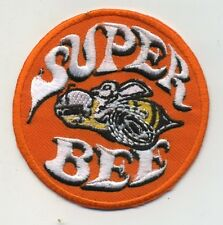 Hot Rod Patch Super Bee Badge Drag Race Muscle Classic Car Jacket iron On