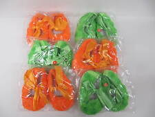 Baby Shoes 6 pair wholesale orange green pram  assorted sizes  0-12 month girls