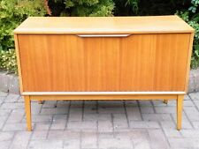Mid Century Modern Teak Danish 1960's Compact Record Cabinet / Credenza