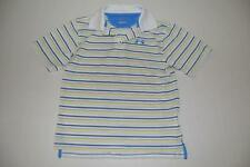 UNDER ARMOUR GOLF JORDAN SPIETH WHITE BLUE STRIPED DRY FIT POLO KIDS SIZE SMALL