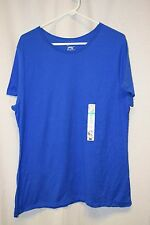 Womens Shirt Size 1X 16 By Just My Size Blue NWT Short Sleeve Pull Over