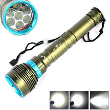 Waterproof 20000LM 7xXML2 LED Diving 18650/26650 Flashlight Lamp Underwater 200M