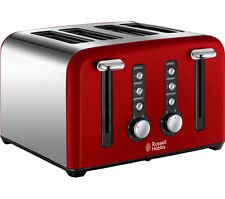 RUSSELL HOBBS Toaster Windsor 22831 4-Slice Wide Slot Defrost Function, RED, NEW