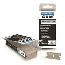 100 Gem Personna Stainless Steel Single Edge Razor Blades
