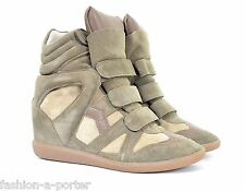 ISABEL MARANT BEKETT OVER BASKET TAUPE SNEAKERS TRAINERS EU 38 US 8 UK 5