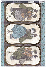 2 x A4 Kanban Steampunk Die-cut, Foiled Topper Sheets -'Just the Two of Us'- 75p