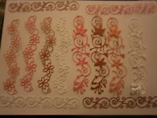 12 DIE CUT ONE OFF PINKS MIX!!!! MEMORY BOX HONEY VINE/DAISY & VALENCIA BORDER