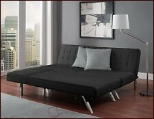 Queen Sofa Guest Sleeper Bed Sectional Couch Faux Leather Futon Chaise Lounger