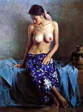 painting Nude Chinese Women canvas printed poster decoration picture no frame