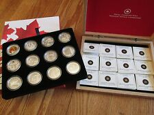 2013 Canada $10 Full O Canada Silver 12-Coin Set with Display Case  w/COA Proof
