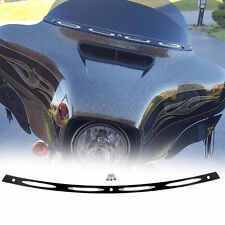 Fit 1996-2013 Harley Electra Street Glide Black Anodized 4 Slots Windshield Trim
