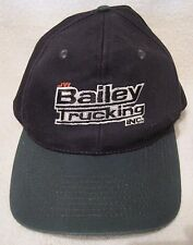 Embroirdered Truckers hat/cap Black body/Green bill & top button snap back