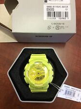New Casio GMAS110VC-9A G-Shock S-Series Vivid YELLOW Color Ana-Digital