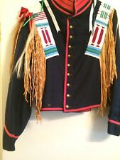 beaded jacket with seed beading and horse hair native american embellished