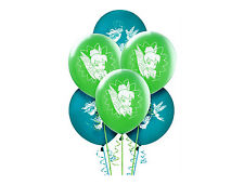 """TINKERBELL PARTY SUPPLIES 6 LATEX BALLOONS 12"""" HELIUM QUALITY DISNEY FAIRIES"""