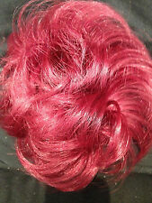 SCRUNCHIE HAIR EXTENSION PONY CURLY UP DO TOP DOWN DO Bright plum
