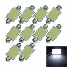 10X White 41MM 1 12 Chips COB Festoon Dome Map LED Light Lamp Roof Bulb I323