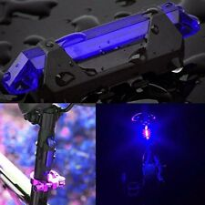 5 LED USB Rechargeable Bike Bicycle Tail Rear Safety Warning Light Lamp Blue