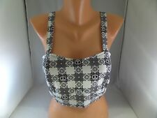 NWT Rock Steady Crop Top Anchor Halter Top Pinup Rockabilly Skull Hearts Sz M