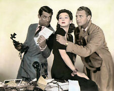 "CARY GRANT ROSALIND RUSSELL RALPH  BELLAMY 1940 8x10"" HAND COLOR TINTED PHOTO"