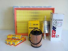 FOR Vauxhall Corsa 1.2cc 10/04-06 Petrol Service Kit Air Oil Fuel Filter Plugs