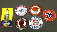 GAS / OIL signs...refrigerator magnets....Set of 6