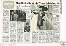 Coupure de presse Clipping 1980 (2 pages) Marie Christine Barrault