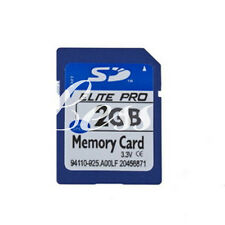 2GB 2G SD Secure Digital Flash Memory Card High Speed For Camera GPS + Case New