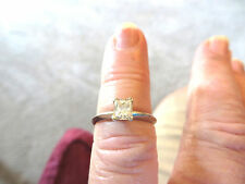 14k WG Approximately .50TCW Princess Cut Diamond Solitaire Ring