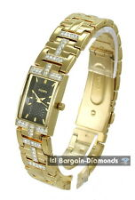 ladies Elgin gold tone business success watch crystal bracelet gift box
