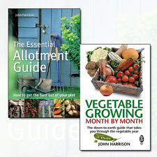 John Harrison Vegetable Growing Collection 2 Books Set Essential Allotment Guide