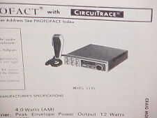 1979 CRAIG CB RADIO SERVICE SHOP MANUAL MODEL L131