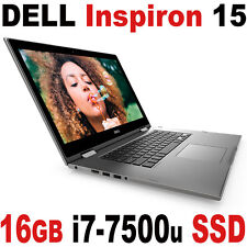 "2017 DELL 16GB 512GB SSD Inspiron 15 5000 i7-7500U 15.6"" FHD Touch Laptop"