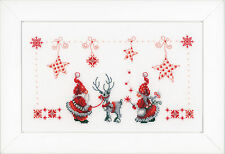 Christmas Elves : Vervaco Counted Cross Stitch Kit  PN0154476