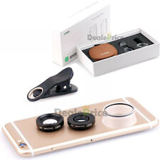 3in1 Universal Clip On Camera Lens Kit 6X 12X 24X Macro for iPhone 6S Cell Phone