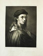 c1840 Raffael Raffaello Sanzio da Urbino Lithographie-Porträt Ferdinand Piloty